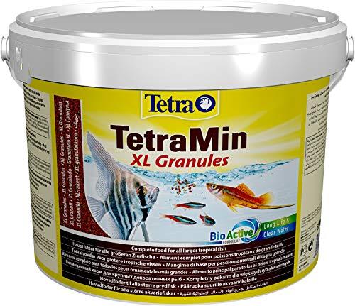 TetraMin XL Granules (Hauptfutter in Granulatform für alle größeren Zierfische wie Salmler und Barben, plus Präbiotika für verbesserte Futterverwertung), 10 Liter Eimer