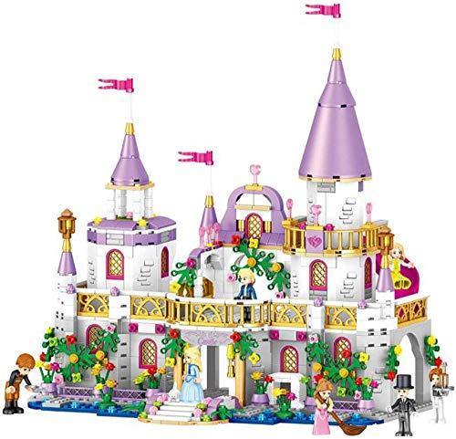 Abcoll Kinder zusammenbauen Baustein Spielzeug 3D Dreidimensionale Puzzle Mädchen Schloss Puzzles Einfach zusammenzubauen 731 Teile