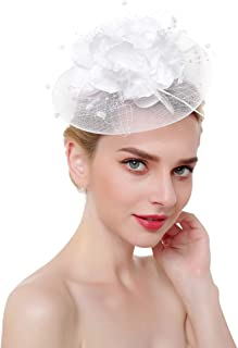 NEW YOUNG Fascinator Hair Clip for Women Headwear Feather Fascinator hat  Wedding Party Cocktail Party Flower 48d350489557