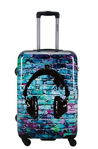 Saxoline Koffer Trolley Motiv Hartschalen Headphone Kopfhörer Gr.M 67 cm