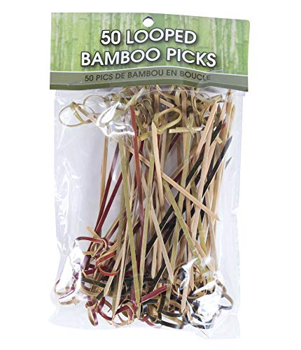 R Ideas, Picks Looped Bamboo, 50 Count
