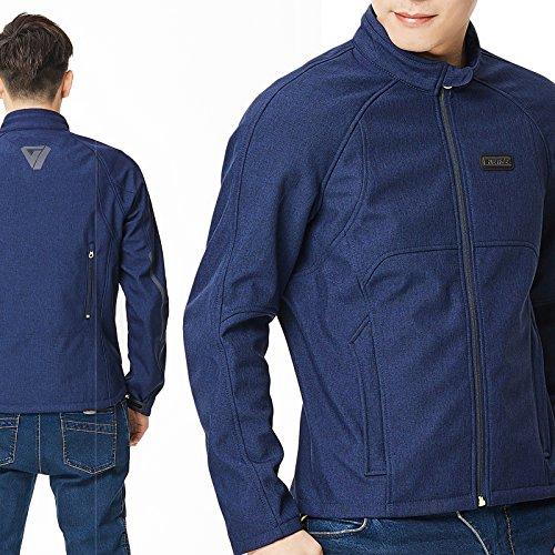 Nerve Shop Vigor, motorjack, beschermend jack, zomerjas, heren jeans-look, korte textiel voor heren, scooter, motorjack, kleur blauw, maat 2XL / XXL
