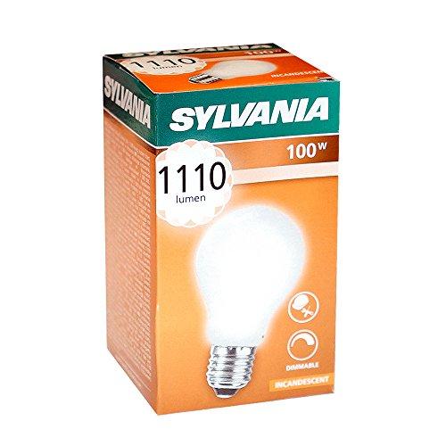 Preisvergleich Produktbild 10 x Sylvania Glühbirne 100W E27 MATT Stoßfest 100 Watt Glühlampe Glühbirnen Glühlampen