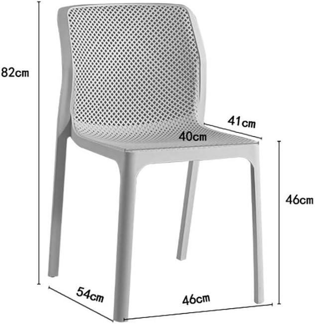 HSF Chaise de Salle à Manger en Plastique café décontracté arrière créatif Balcon Bureau réception Conversation Chaise Chaises (Color : White) Gray