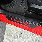 Para Dodge Charger R/T El Protector Del Umbral De La Puerta,Placas De ProteccióN,Cubierta Del Umbral Del Pedal,Accesorio De DecoracióN De Coche Antideslizante Antirrayas De Fibra De Carbono