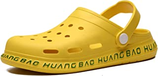 YQK Clogs Shoes, Summer Classic Garden Men's Sandals Soft Comfortable Casual Loafers Slipper Man Outdoor Beach Rubber Clog...