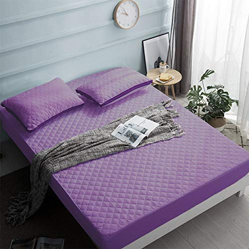 YDyun Protector de colchón/Cubre colchón Acolchado, antiácaros, Protector de Hoja Acolchado