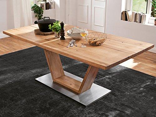 möbelando Esszimmertisch Küchentisch Esstisch Massivholztisch Säulentisch Tisch Greta VI 180 cm
