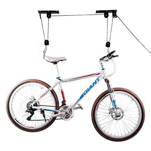 BENPAO Fahrrad Hebebühne Qualität Garage Lagerung Bike Lift , mit 3 Riemenscheibe und 45 ft verstellbaren Seil 50 KG für Garage Deckenaufbewahrung, Mountainbike Hanging Rack