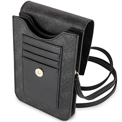 Guess - Funda Tipo Cartera para teléfono con Taza, Color Negro (GUWBSQGBK)