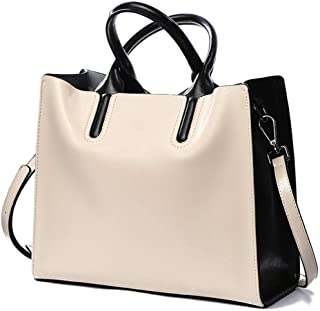Arder Outdoor Business Leather Handbags Shoulder Bag/Crossbody Bag Simple Wild Lady Big Bag Relaxed (Color : Gray)