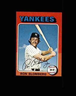 1975 Topps Mini Baseball #068 Ron Blomberg STARX 6 EX/MT CS44665