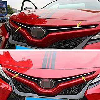 ZiWen New Sport Style Stainless Steel Chrome Front Grill Trim for Toyota Camry 2018 (SE XSE)