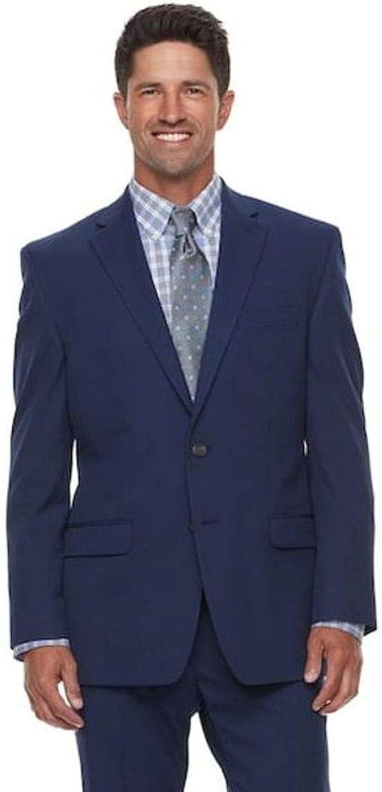 Chaps Men's Classic Fit Performance Series Stretch Suit Jacket Coat Blazer Navy