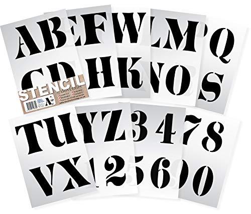 Dovetails Vintage Buchstaben Schablone 10 cm hoch (4