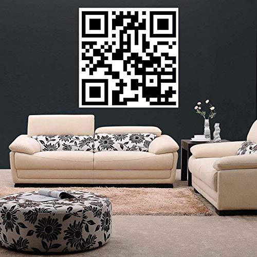 Aangepaste Qr Code Sticker -Gepersonaliseerd Ontwerp Scan Muur Zakelijke Vinyl Waterdichte Decal - Stick Art Scanner Vierkant Scannen Persoonlijk Label 63'' x 63'' (160x160 cm)