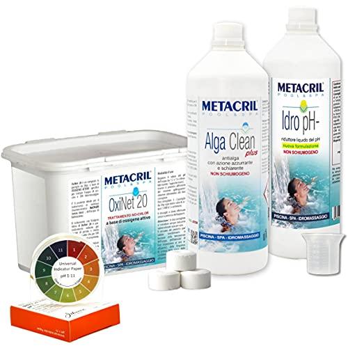 Starter Kit Oxi para Tratamiento Agua y Mantenimiento de SPA, Jacuzzi y pequeña Piscina a Base de oxígeno Activo, en Pastillas de 20g.-