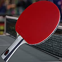 Gambler Custom Professional Table Tennis Paddle with 2X Carbon Flex Blade and Aces Rubbers plus Blue Case