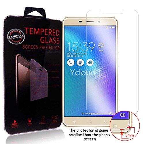 Ycloud Panzerglas Folie Schutzfolie Bildschirmschutzfolie für Asus ZenFone 3 Laser (5.5 Zoll) ZC551KL Screen Protector mit Festigkeitgrad 9H, 0,26mm Ultra-Dünn, Abger&ete Kanten