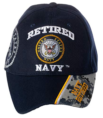 Artisan Owl Officially Licensed US Navy Retired Baseball Cap Camo (Navy)