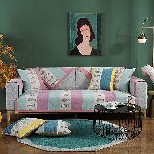 JIAHENGY Asiento Forro Sofá Doméstico,Cojín de sofá Antideslizante General nórdico, Funda de sofá Simple y Moderna-púrpura_70x150cm / (27x59 Pulgadas)