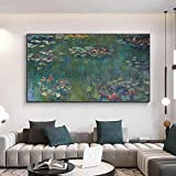 Moderne Claude Monet Wasser Lotus Leinwand Gemälde