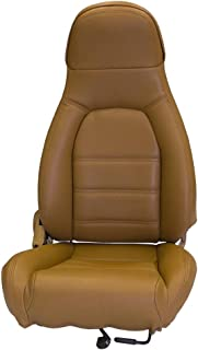 Sierra Auto Tops Mazda Miata Front Seat Cover Kit for 1990-1996 Standard Seats, Simulated Leather, Black (Driver and Passenger Included) (Tan)