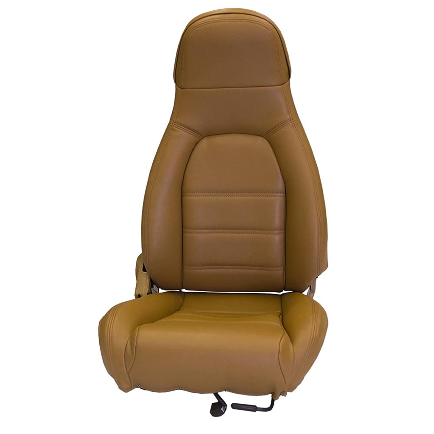 Sierra Auto Tops Mazda Miata Front Seat Cover Kit for 1990-1996 Standard Seats, Tan (Saddle) Simulated Leather