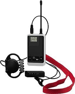 Monacor ATS de 22t Digital de 16canales de voz übertragungssystem, 863–865MHz Negro