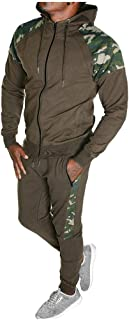 Men's 2 Piece Tracksuit Set, Zipper Hoodie Coat Jacket Elastic Pants Sweatpants for Jogger Sports Gym Fitness Running