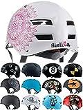 SkullCap® Casco BMX Bici y Casco Skate - Hombres Mujeres Niños y Niños,...