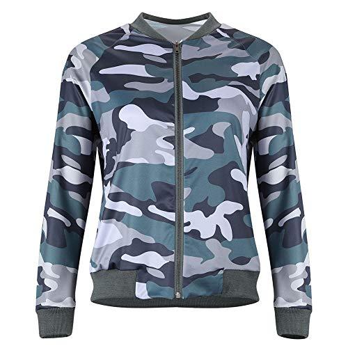 H2okp-009 Art- en wijsvrouwen lange mouwen - camouflage rits - korte zakken - uni-jas eenvoudig casual