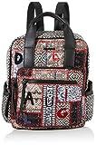 Desigual Backpack Patch 1968 Randers, Zaino alla moda. Donna, Grau (Gris Osona), 34.5x12x28.5 centimeters (B x H x T)