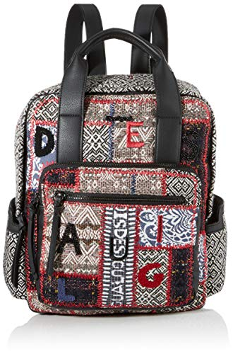 Desigual Backpack Patch 1968 Randers, Gris Osona