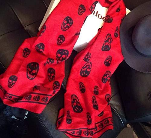 Sportinggoods herfst en winter nieuwe taro rood wol geborstelde sjaal dames warme lange sjaal met dubbele gebruiksdoel