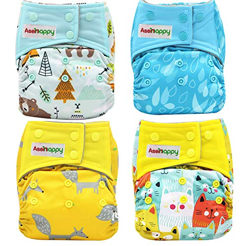 Asenappy Double Pockets Baby Cloth Diapers review