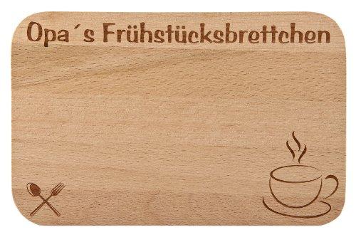 Frühstücksbrettchen/Frühstücksbrett mit Gravur für die Opa als Geschenk - aus Holz - Geschenkidee ideal zum Geburtstag oder zu Weihnachten