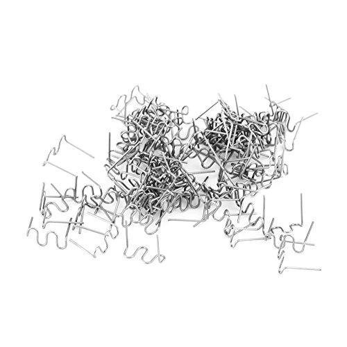Keenso 100pcs 0.8mm Hot Nietjes Lassen Nietjes, Auto Bumper Reparatie Pre Gesneden Lichaamswerk Kunststof Lassen Nietjes Reparatie Gereedschap Kit 3 Typen Beschikbaar