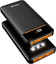 Power Bank 25000mAh Portable Charger Battery High Capacity with Digital Display LCD Screen, 3 USB Output & 2 Input, Compatible Smartphone, Tablet and More