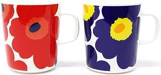 マリメッコ UNIKKO(ウニッコ)マグカップ/赤、紺セット