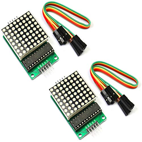 Partstower MAX7219 8x8 1 Dot Matriz Modulo de Pantalla LED MCU Matrix para Arduino