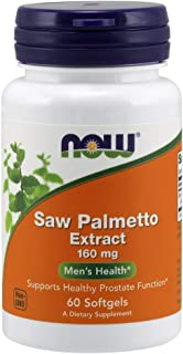 NOW Supplements, Saw Palmetto Extract (Serenoa repens) 160 mg, Men's Health*, 60 Softgels