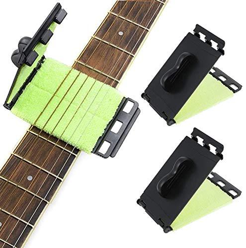 GWL Limpiador de Cuerdas de Guitarra,3PCS Limpiador para Guitarra de Diapasón,Guitarra eléctrica...