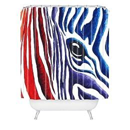 multicolor zebra shower curtain