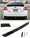 Extreme Online Store Replacement for 2015-2021 Subaru WRX STi Models | Rocket Bunny Duckbill Style ABS Plastic Primer Black Rear Trunk Lid Wing Spoiler