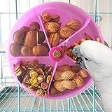 Juguete de alimentación para loros de pájaros, Pájaros Juguete Giratorio Juguete de alimentación para loros, Creativo pájaro forrajeo Juguete Loro Rueda Forma Rompecabezas Juguetes (Púrpura)