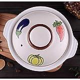 Cuenco Piedra, Estufa cazuela cerámica Olla Caliente bibimbap y Sopa Jjiage Food White 0.73 Quart