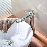 Grifo del lavabo del grifo del lavabo del baño grifo de un solo orificio montado en el grifo del agua fría del grifo
