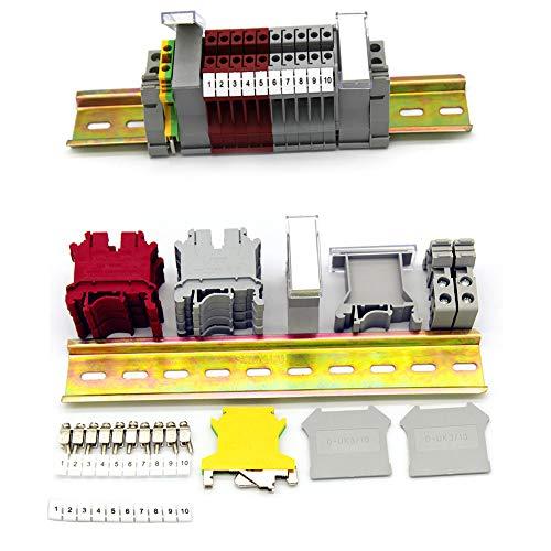 Her Kindness Durchgangsklemme UK 5N, Klemmen-Kit Anschlussblöcke elektrisch,Geeignet für die Automatisierung und DIY-Produktion