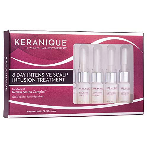 Keranique 8 Tage intensive Kopfhaut-Infusionsbehandlung (8 Ampullen), 1,5 fl oz - Keratin-Aminokomplex - hilft dem Haar, dicker zu wirken, stärkt, schützt und bietet Anti-Bruch-Vorteile